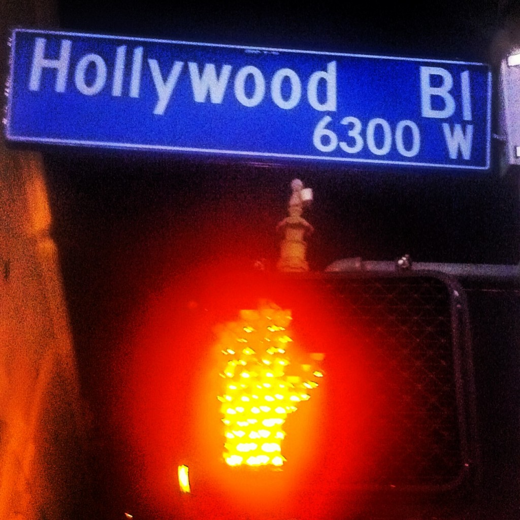 Stopped at  Hollywood Boulevard