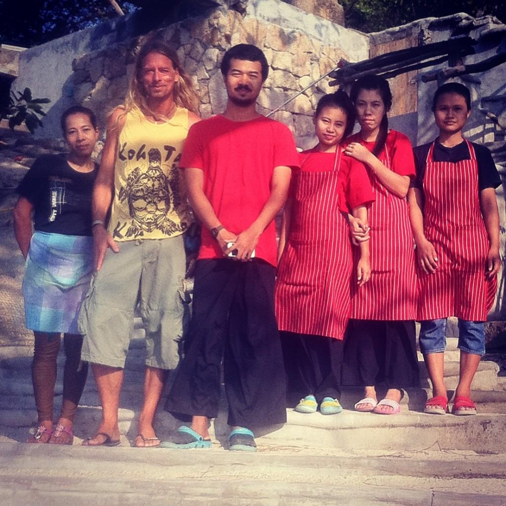 Tan & another four tops (Koh Tao)